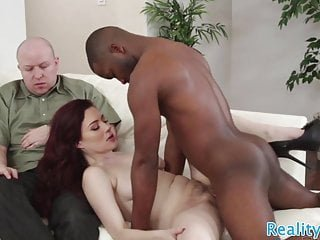 Cuckolding wife screwed by black dick