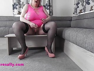 Slutty Granny fucking her vagina