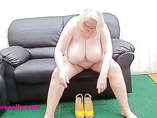 Big tits Granny masturbates