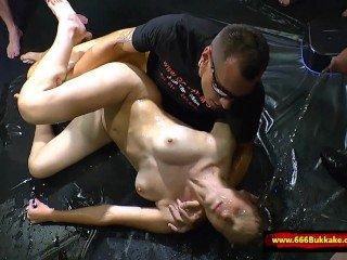 Huge Pissing gangbang - 666Bukkake