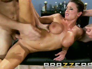 Brazzers - Dirty mother in law Veronica Avluv, gets shared by two dick