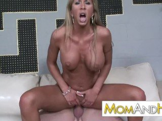 Hot lady MOM Morgan Ray loves a hot young stud