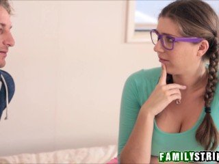 Step Dad Teaching Anal Sex To Nerdy Daughter Alex Chance
