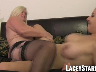 LACEYSTARR - Doctor GILF heals patient with lesbian orgasm