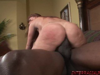 Slut StepMom goes for biggest black dick getting her pussy ruined