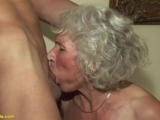 When woman become old grandma she had fantasy of porn video