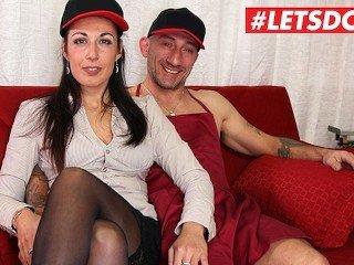 LETSDOEIT - Hot Italian Hot lady Rides a Big Dick At Casting