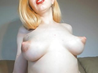 Puffy nipple milking while riding my dick