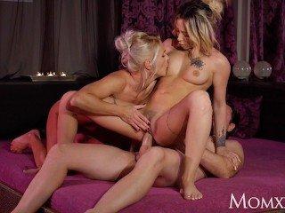 MOM Kathy Anderson spa threesome with hot French Hot lady Jennifer Amilton